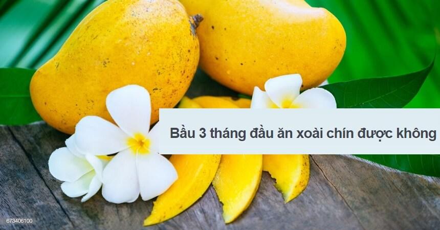 Bau 3 thang dau an xoai chin duoc khong