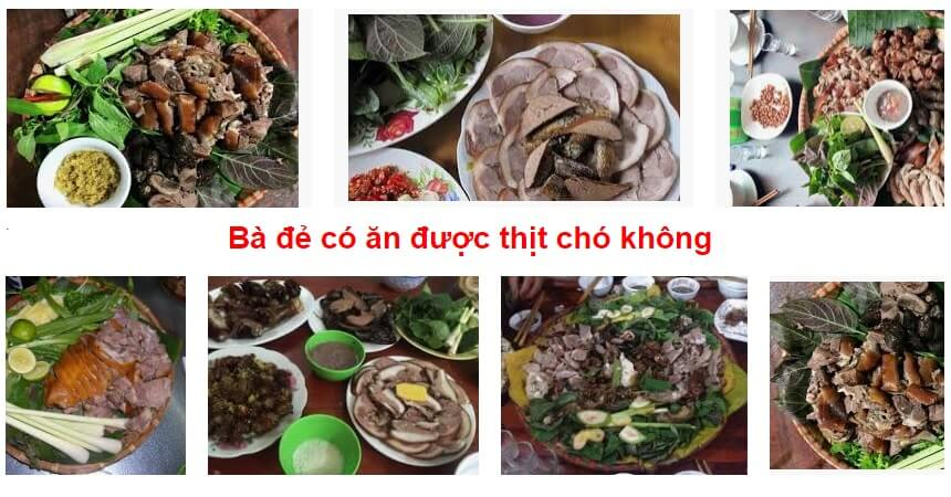 Ba de co an duoc thit cho khong